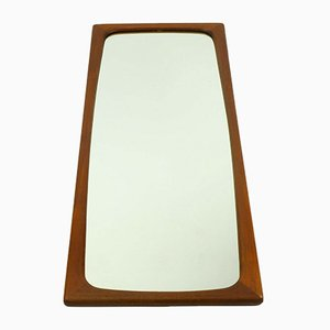 Large Danish Teak Mirror, 1960s