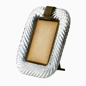 Art Deco Twisted Murano Glass Picture Frame from Venini, 1930s
