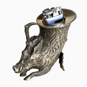 Italienisches Hollywood Regency Wildschwein Feuerzeug von Gabriella Crespi, 1970er