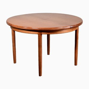 Mid-Century Extendable Round Teak Dining Table from G-Plan, 1960s