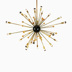 Vintage Sputnik Ceiling Lamp in the Style of Stilnovo, 1950s