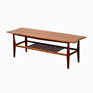 Mid-Century Teak Two-Tier Slatted Coffee Table from Trevor Page, 1960s