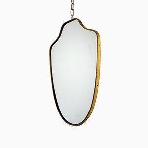 Espejo italiano de latón, años 60
