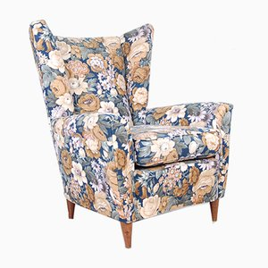 Vintage Floral Fabric Lounge Chairs from ISA, 1950s, Set of 2