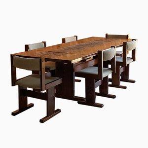 Tavolo da pranzo e sedie in palissandro di Gangso Mobler per Gangso Mobler, Danimarca, anni '70, set di 7