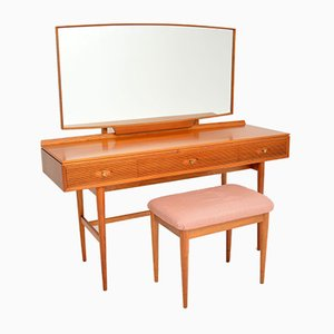 Vintage Mahogany Dressing Table & Stool by Robert Heritage, 1960s