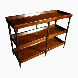 Antique Mahogany Console Table Trolley