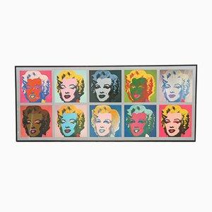 Large Pop Art Marilyn Monroe by Andy Warhol