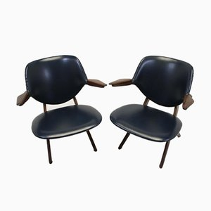 Large Vintage Pelican Armchairs by Louis van Teeffelen for Wébé, Set of 2
