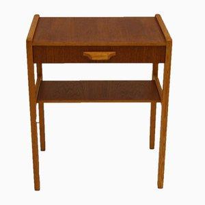 Tavolino o comodino vintage con cassetto, Danimarca, anni '50