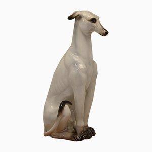 Vintage Italian Ceramic Haze Greyhound