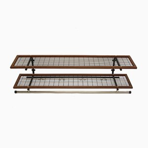 Metal and Teak Coat Rack with Black Storage Rack from Isaksson Habo, 1921
