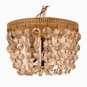 Vintage Deckenlampe aus Kristallglas