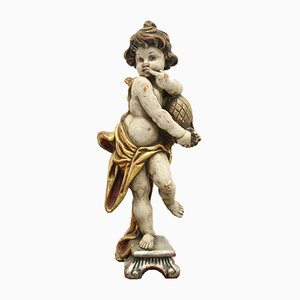 19th Century Wooden Honey Licker Statue