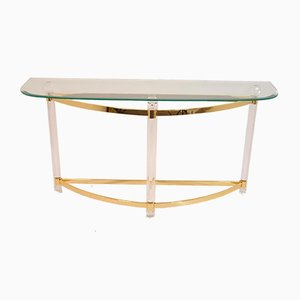 Italian Hollywood Regency Plexiglass Side Table, 1970s