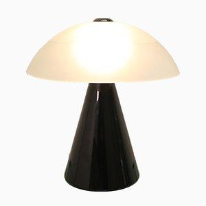 Lampe de Bureau Mid-Century Noire et Blanche en Verre Murano par F. Fabbian