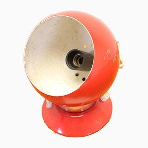 Red Bulb Magnet Light with Black Base