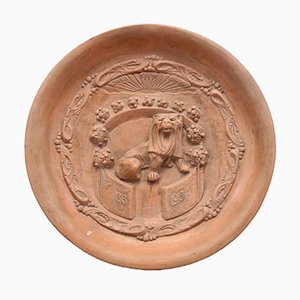 Antique Terracotta Orange House Wall Plate