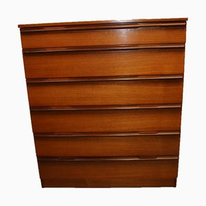 Teak Chest of Drawers with 6 Drawers, 1960s