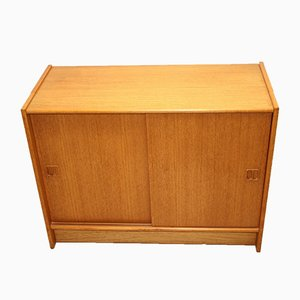 Teak Cabinet with Sliding Doors