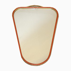 Small Triangular Mirror with Red Border