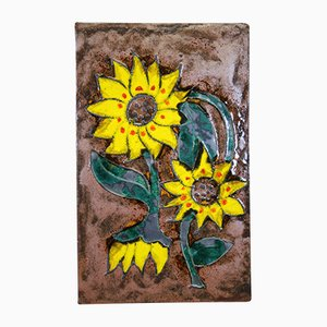 Ceramic Sunflower Marked Tile