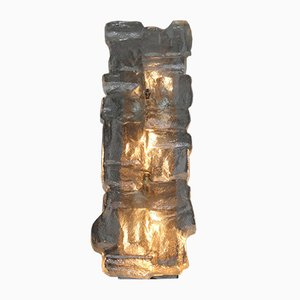 Large Wall Light with Thick Ice Glass from Hillebrand
