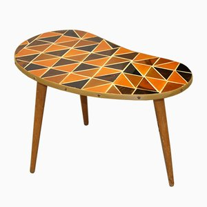 Kidney-Shaped Side Table with Bakelite Pieces