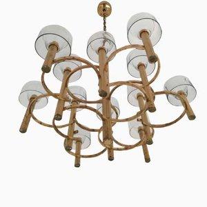 Lámpara de araña italiana vintage de Sciolari, años 70