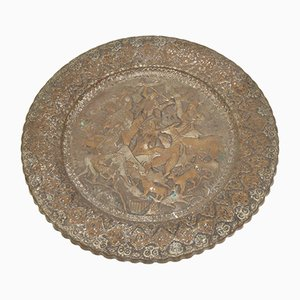 Assiette Murale Antique Qajar 19É