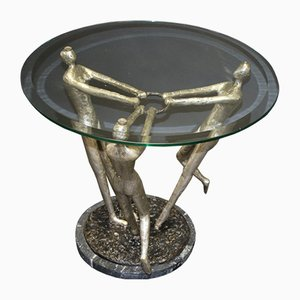Modern 3-Virgin Coffee Table in Bronze
