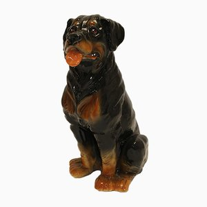 Ceramic Rottweiler Dog, 1960s