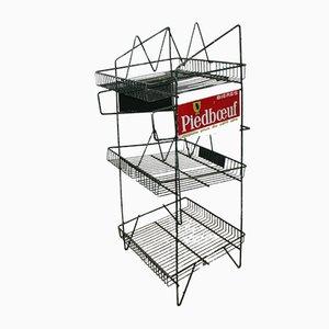 Belgian Beer Piedboeuf Advertising Rack Shelf, 1960s
