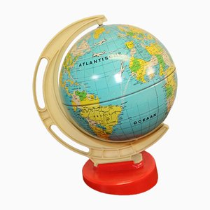 Kleiner Globus aus Metall, 1950er