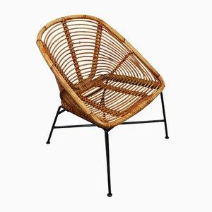 Bambus oder Rattan Patio Stuhl von Dirk van Sliedrecht