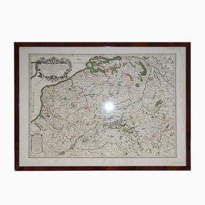 Mapa francés de los Países Bajos, Bélgica y Francia, siglo XVII