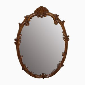 Oak Oval Mirror