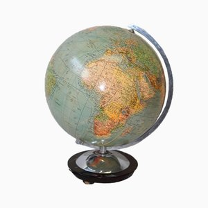Vintage German Globe in Glass with Lighting