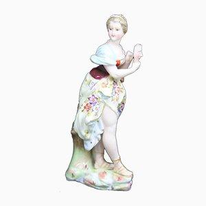 Antike deutsche Frauenfigur aus Porzellan von Triebner, Ens & Eckert