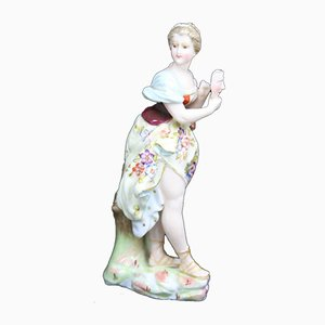 Antique German Porcelain Woman Figurine by Triebner, Ens & Eckert