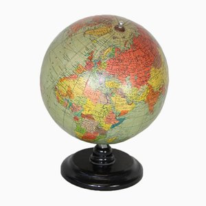 Globe on Black Bakelite Base, 1950s
