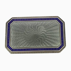 Antique Silver Enameled Russian Hungarian Box