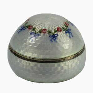 Antique Enameled Silver box