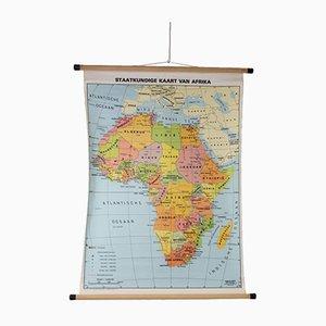 Vintage Schulkarte Politisch aus Afrika