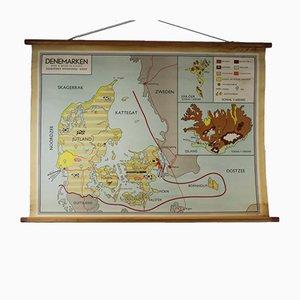 Tarjeta de escuela vintage de Dinamarca
