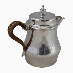 Brocca da tè Art Deco antica in argento, Regno Unito, 1914