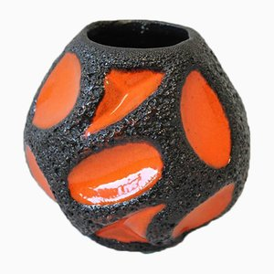 Vintage Orange Fat Lava Flower Pot by Roth for Eberhahn
