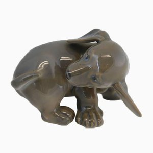 Vintage Puppy Dachshund Chasing it's Tail from Royal Copenhagen