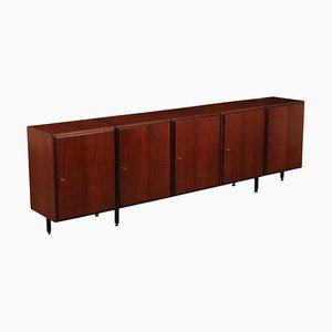 Italian Mahogany Veneer and Metal Sideboard, 1960s