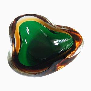 Cuenco de cristal de Murano de Mandruzzato, años 60